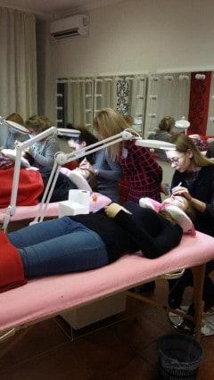 Ученицы за работой - Киев - Студия Beauty Bar